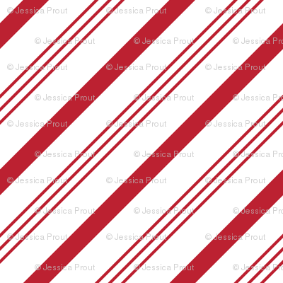 candy cane stripes - red on white