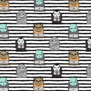 (small scale) little monsters - b/w stripes