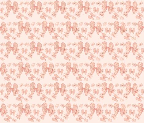 Pink_Butterflies_on_eggshell fabric by ruthjohanna on Spoonflower - custom fabric