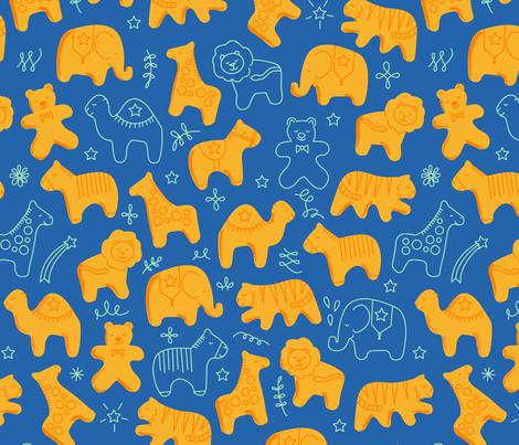 Animal Crackers fabric by jenimp on Spoonflower - custom fabric