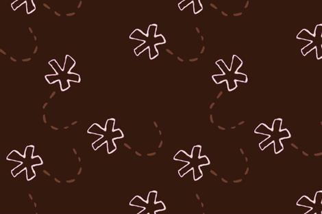 Flowers On Chocolate Brown Upholstery Fabric Fabric Llukks