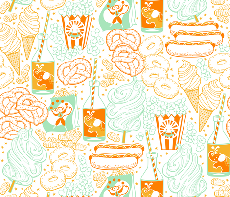 circus snacks fabric by cjldesigns on Spoonflower - custom fabric