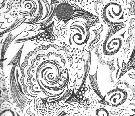 Bandana Doodle - black on white