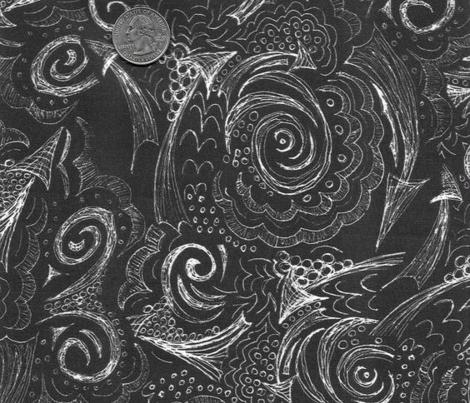 Bandana Doodle - White on Black