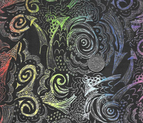 Bandana Doodle - Rainbow Black