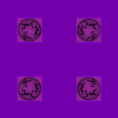 hound_trio_circle purpleForBows1-ch-ed-ed-ch-ch-ed fabric by cloudsong_art on Spoonflower - custom fabric