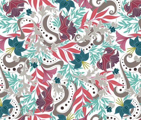 Bohemian Floral fabric by dearchickie on Spoonflower - custom fabric