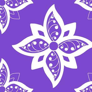Tarot_spread cloth flower_design