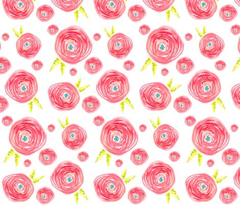 Pink_Roses_2_spoonflower fabric by artgirlangi on Spoonflower - custom fabric