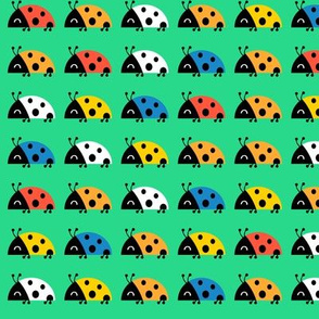 rainbow ladybugs - small