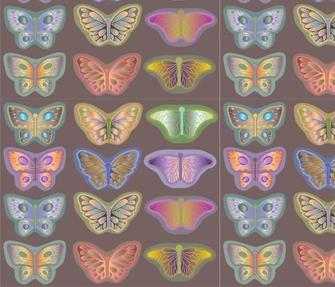 butterflies_rainforest fabric by dinnyann on Spoonflower - custom fabric