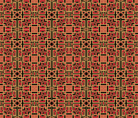 red_hot_and_interlocked fabric by artsytoocreations on Spoonflower - custom fabric
