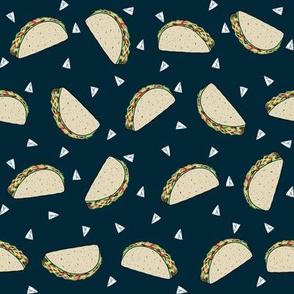 Taco food pattern black by andrea lauren