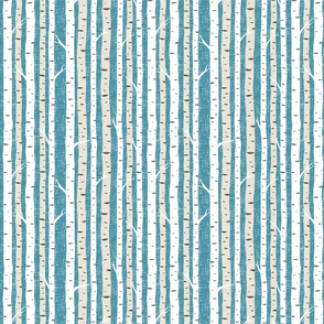 BirchTrees8x8Teal