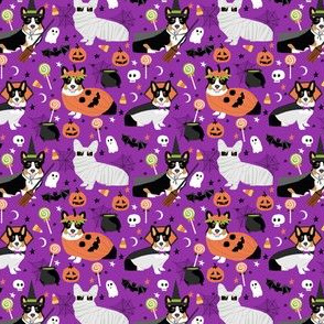 Tri-Colored Corgi halloween costumes fabric  mummy vampire ghost just dog fabric (smaller version)