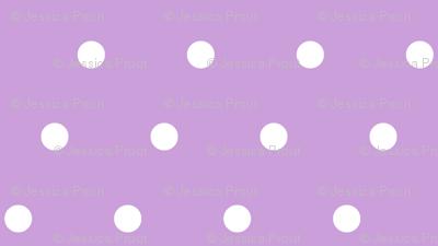 juice box polka dots - purple
