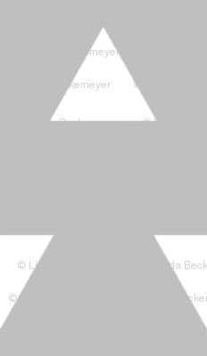 Triangles – Gray  + White Triangle Geometric Baby Kids