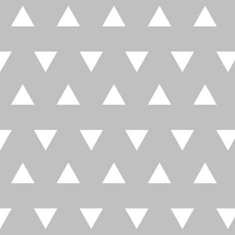 Triangles – Gray  + White Triangle Geometric Baby Kids fabric by gingerlous on Spoonflower - custom fabric
