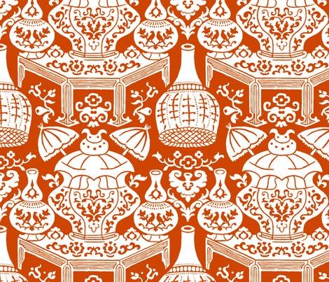 Lièwù Zhī Niǎo 1e fabric by muhlenkott on Spoonflower - custom fabric