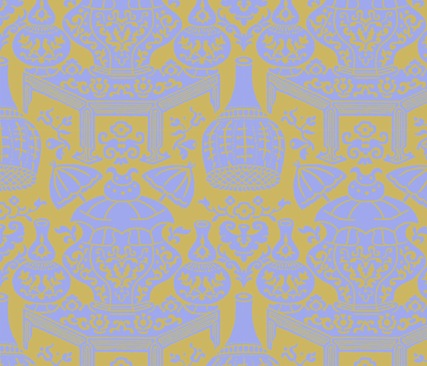 Lièwù Zhī Niǎo 1c fabric by muhlenkott on Spoonflower - custom fabric