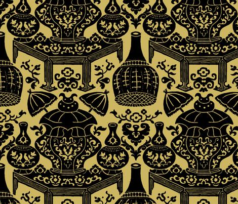 Lièwù Zhī Niǎo 1d fabric by muhlenkott on Spoonflower - custom fabric