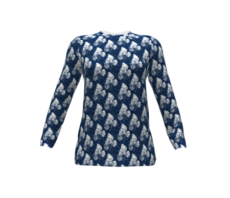 Ghost Leaves on Navy Blue (small)