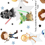 Nerdy Space Characters (rotated) – Geek Fantasy Kids Room Bedding Sheets A