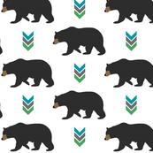 Bear and Chevron Arrows // Cedar Creek Collection - Black Bears Woodland Nursery Animals