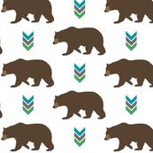 Bear and Chevron Arrows // Cedar Creek Collection - Brown Bears Woodland Animals Nursery