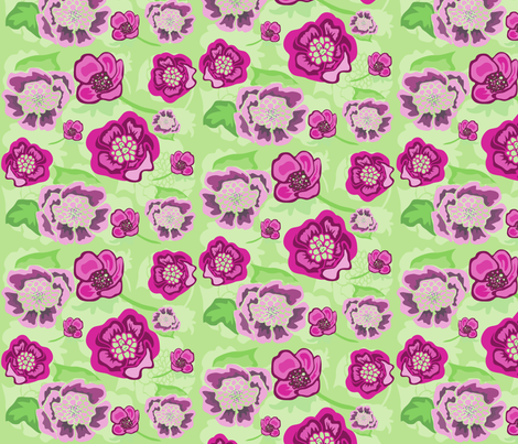 Pink_vector_floral_1__Converted_ fabric by artgirlangi on Spoonflower - custom fabric