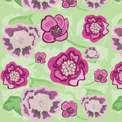 Pink, Mauve, Green Floral