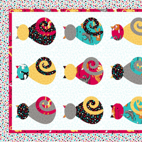 Kitty Cat Wholecloth Quilt Top