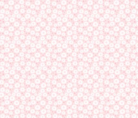Starfish and sand dollars large // pink white trendy kids nursery baby girl beach coastal ocean floor sea  fabric by designerbyheart on Spoonflower - custom fabric