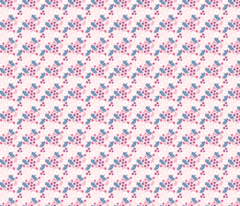 Deep ocean adventure  small // pink white trendy kids nursery baby girl sea bed starfish shells fabric by designerbyheart on Spoonflower - custom fabric