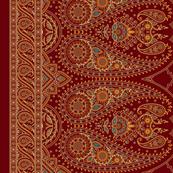 "Double-Edged Red Sari Saree 54"""