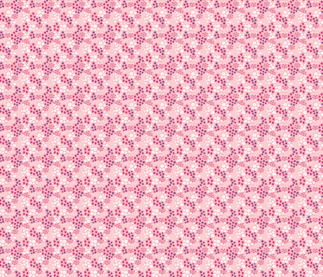 Sea turtles small // pink white trendy kids nursery baby girl sea bed starfish shells fabric by designerbyheart on Spoonflower - custom fabric
