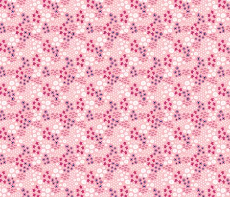 Sea turtles large // pink white trendy kids nursery baby girl shells starfish ocean floor sea creatures fabric by designerbyheart on Spoonflower - custom fabric