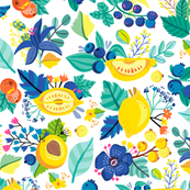 Lemon berry pattern