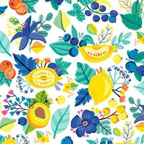 Lemon berry pattern