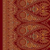 "Double-Edged Red Sari Saree 42"""