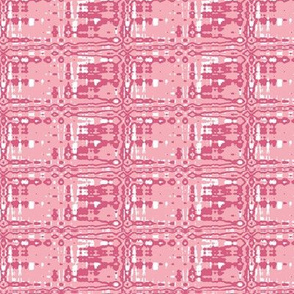 Grid Pink Upholstery Fabric