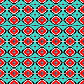 Southwestern Teal and Red