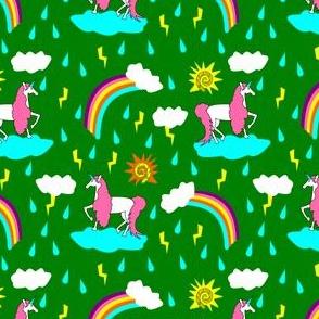 unicorn sunshine green