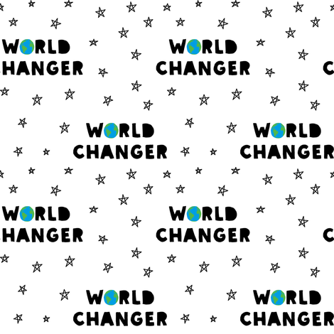 WORLD CHANGER fabric by littlearrowdesign on Spoonflower - custom fabric