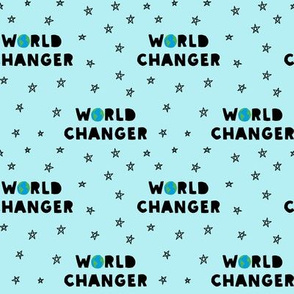 WORLD CHANGER - light blue