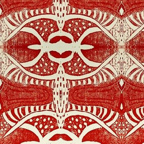 Tribal pattern in red (2)