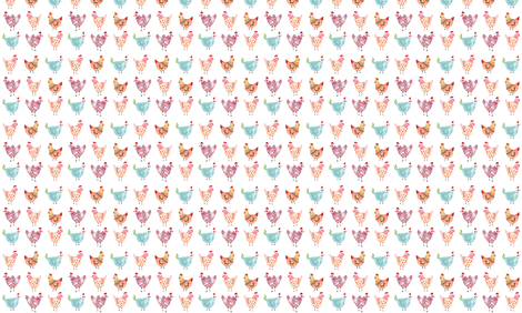 Colorful Chickens  fabric by twodreamsshop on Spoonflower - custom fabric