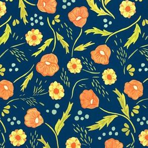Poppies Etc - Blue