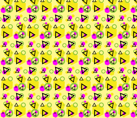memphis style geometrics fabric by violetmalu on Spoonflower - custom fabric
