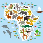 Animal Africa. Map